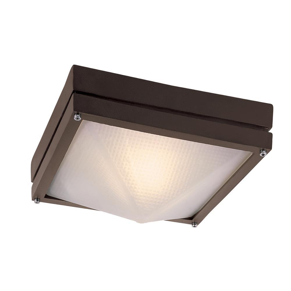 Harland Rust 1-Light Outdoor Flush Mount Lantern