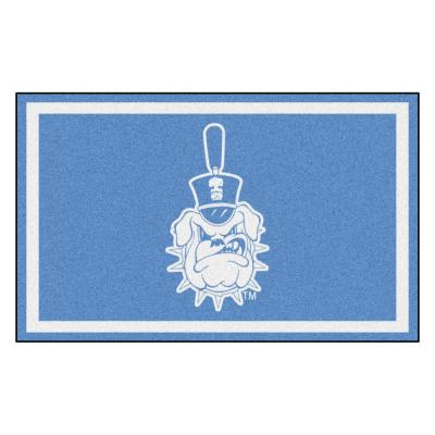 NCAA - The Citadel Blue 6 ft. x 4 ft. Indoor Area Rug