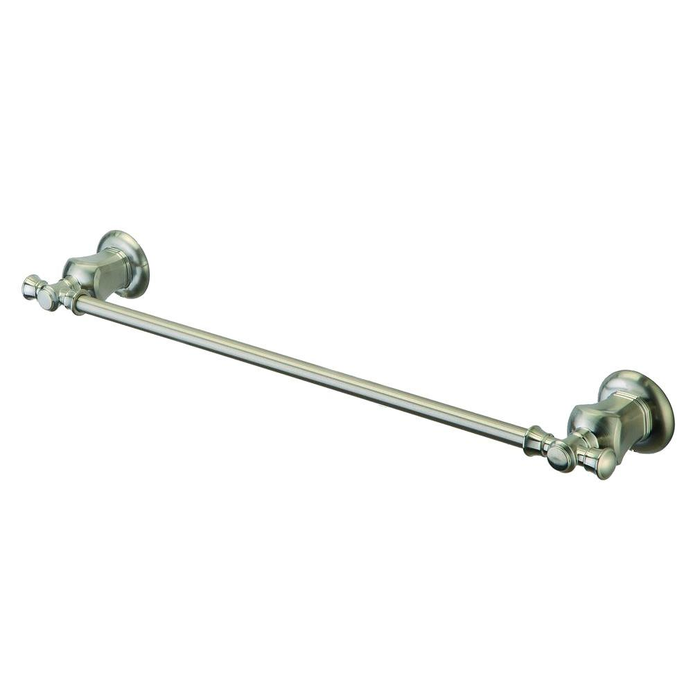Pegasus Verdanza 24 in. Towel Bar in Brushed Nickel