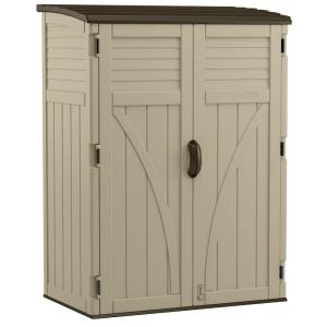 Beau Suncast 2 Ft. 8 In. X 4 Ft. 5 In. X 6 Ft. Large Vertical Storage Shed BMS5700    The Home Depot