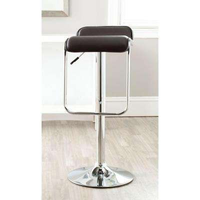 Taronda Adjustable Height Chrome Swivel Cushioned Bar Stool