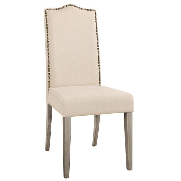 Carolina Cottage Romero Cream Linen Parsons Dining Chair 1817 Wgln The Home Depot