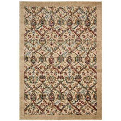 Graphic Illusions Light Gold 8 ft. x 11 ft. Area Rug