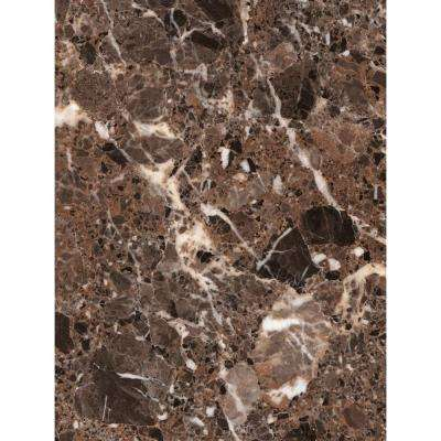 3 in. x 5 in. Laminate Sheet in Breccia Nouvelle with Premium Quarry Finish