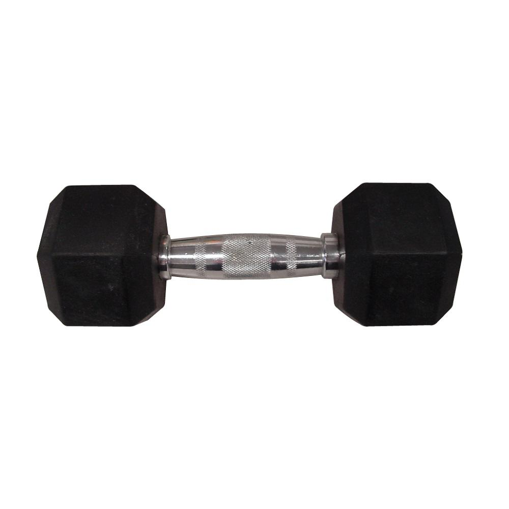 15 lbs. Rubber Hex Dumbbell