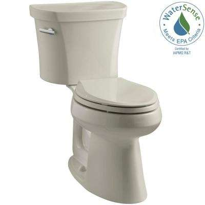 Highline 14 in. Rough-In 2-piece 1.28 GPF Single Flush Elongated Toilet in Sandbar, Seat Not Included