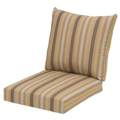 Cornbread Stripe Rapid Dry Deluxe 2 Piece Outdoor Deep Seating Cushion