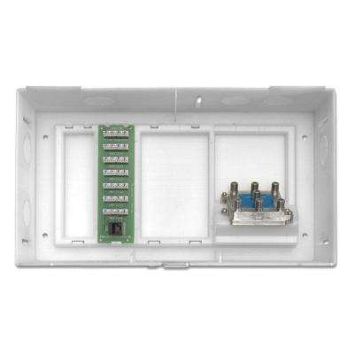 Compact Structured Media Kit 1 x 6 Telephone Expansion Board and 6-Way Video Splitter Included, White