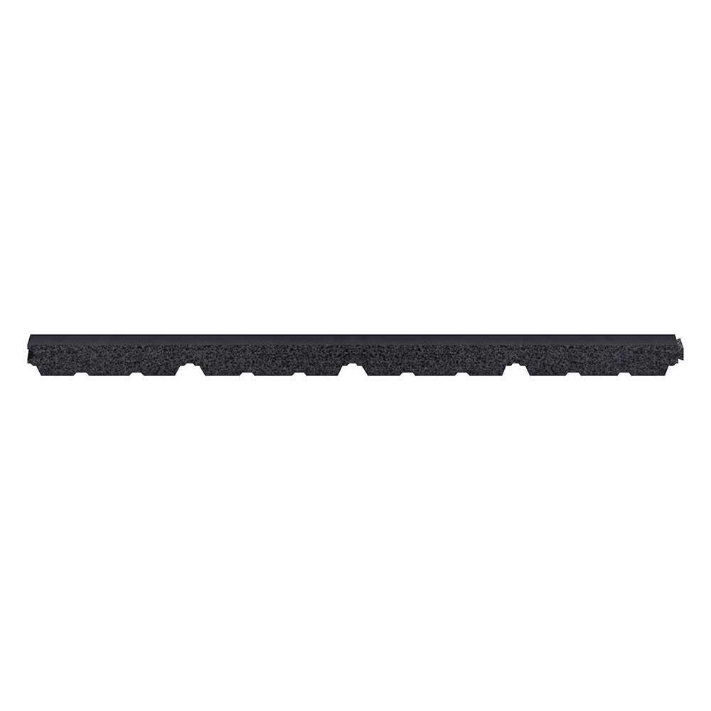 3 ft. Outside Closure Strip Foam SM-Rib Roof Accessory in Black