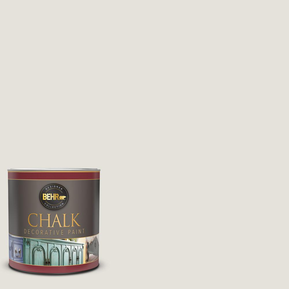 BEHR 1 qt. #HDC-NT-21 Weathered White Interior Chalk Decorative Paint