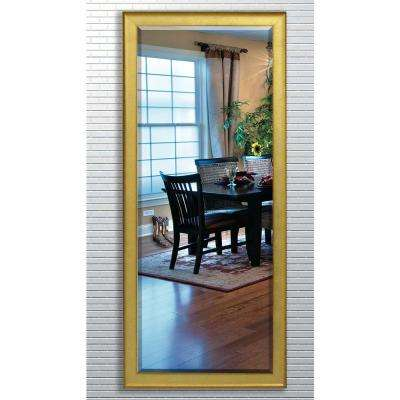 28.5 in. x 69 in. Vintage Gold Beveled Oversized Full Body Mirror