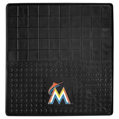 Miami Marlins Heavy Duty Vinyl 31 in. x 31 in. Cargo Mat