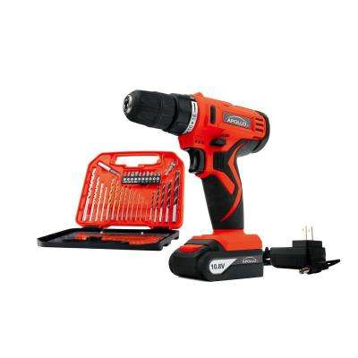 10.8-Volt Lithium-Ion Cordless 3/8 in. Drill with Accessory Set (30-Piece)