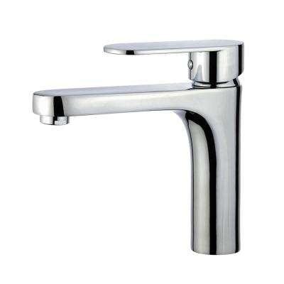 Donostia Single Hole Single-Handle Bathroom Faucet with Overflow Drain in Polished Chrome