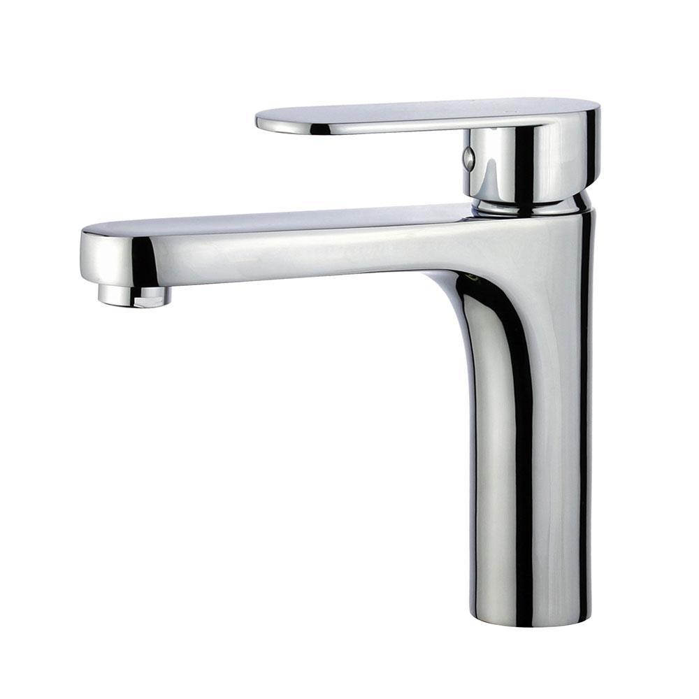 Donostia Single Hole Single-Handle Bathroom Faucet with Overflow Drain in Polished Chrome
