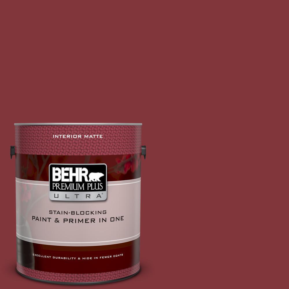 Behr Premium Plus Ultra 1 Gal S H 170 Red Brick Matte Interior