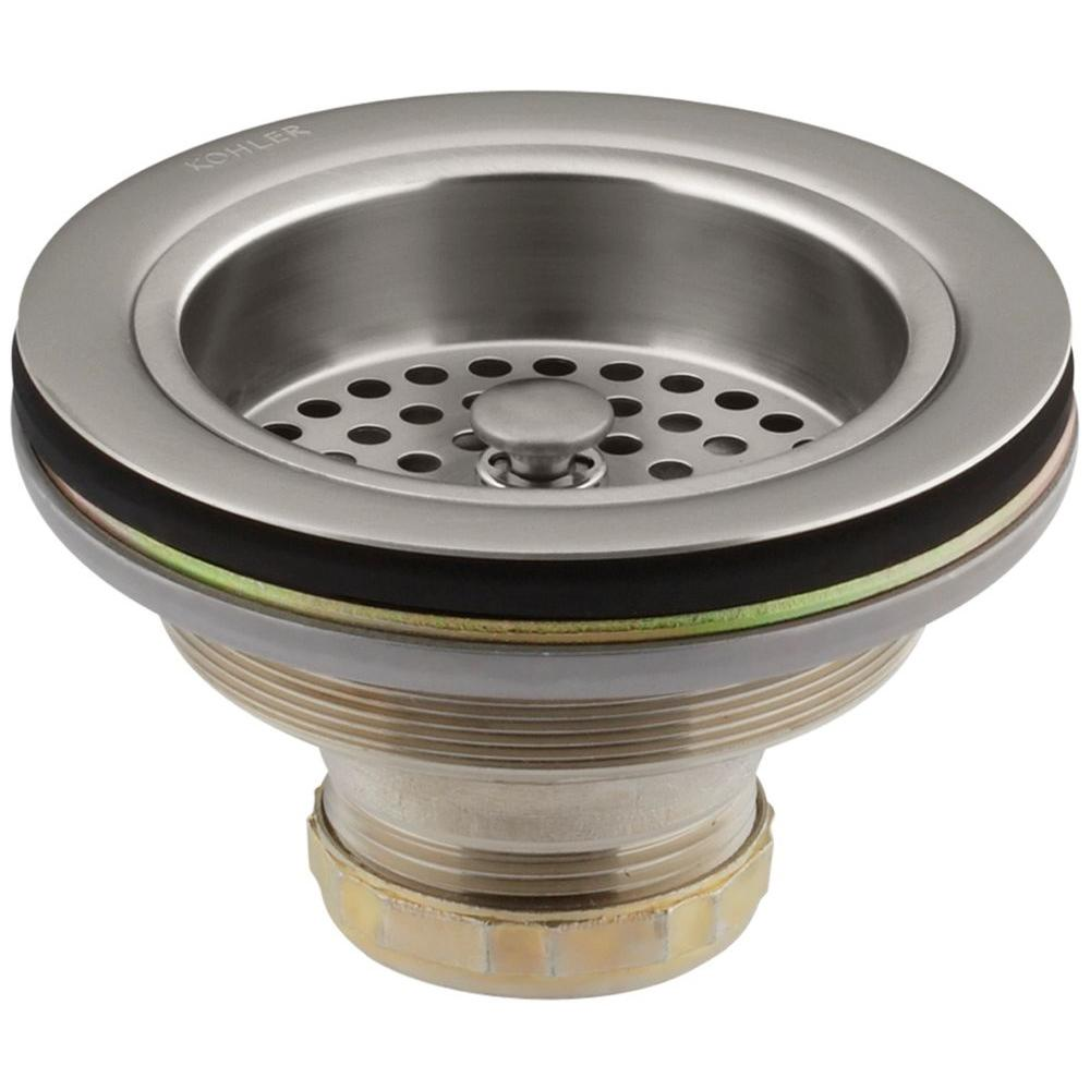Sink Strainer in Vibrant Stainless Duostrainer 4 12