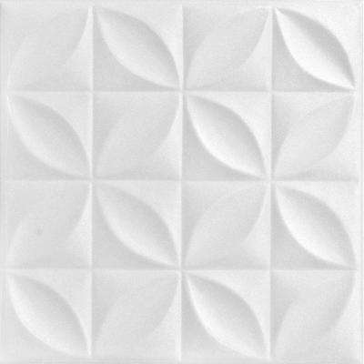 Perceptions 1.6 ft. x 1.6 ft. Foam Glue-up Ceiling Tile in Plain White (21.6 sq. ft. / case)