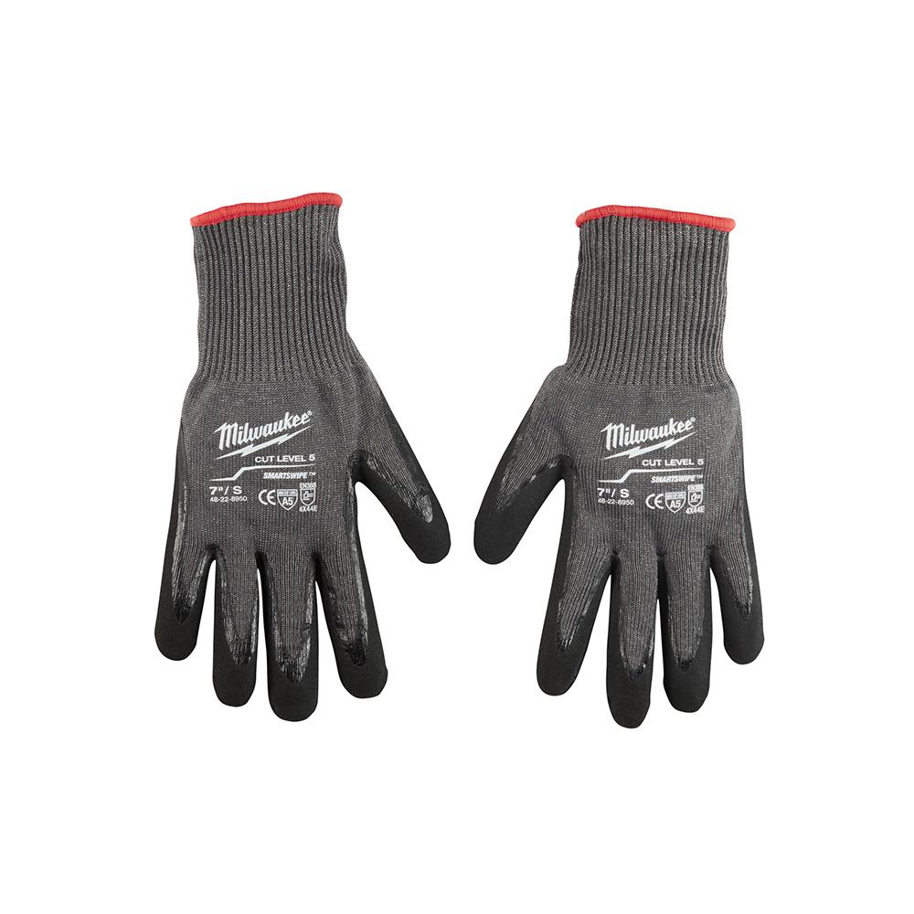 Medium Gray Nitrile Dipped Cut 5 Resistant Work Gloves