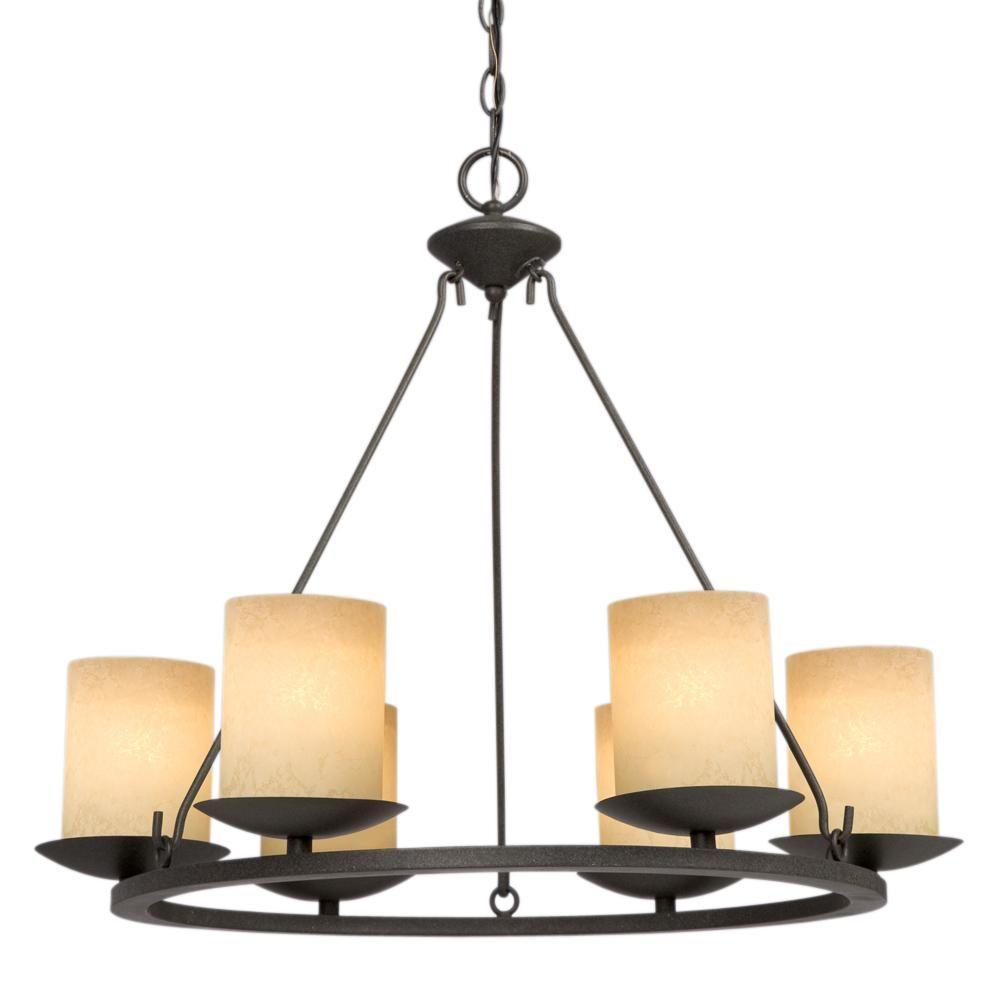 Filament Design Negron 6-Light Aged Bronze Incandescent Chandelier