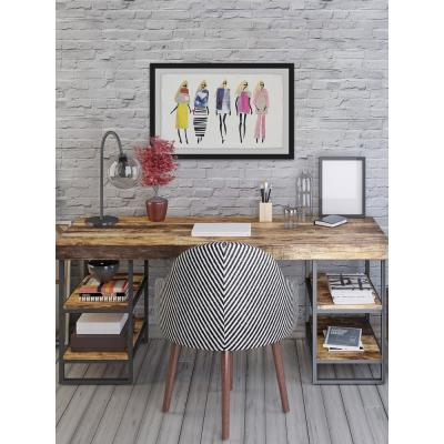 """20 in. H x 30 in. W Fashion Blondes"""" by Julia Posokhova Framed Wall Art"""