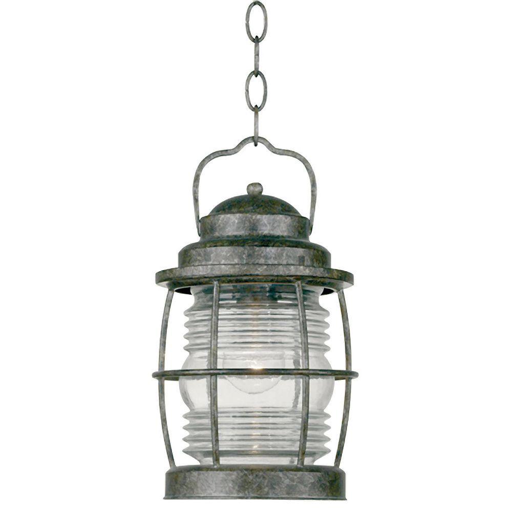 Kenroy Home Beacon 1-Light Flint Incandescent Hanging Lantern