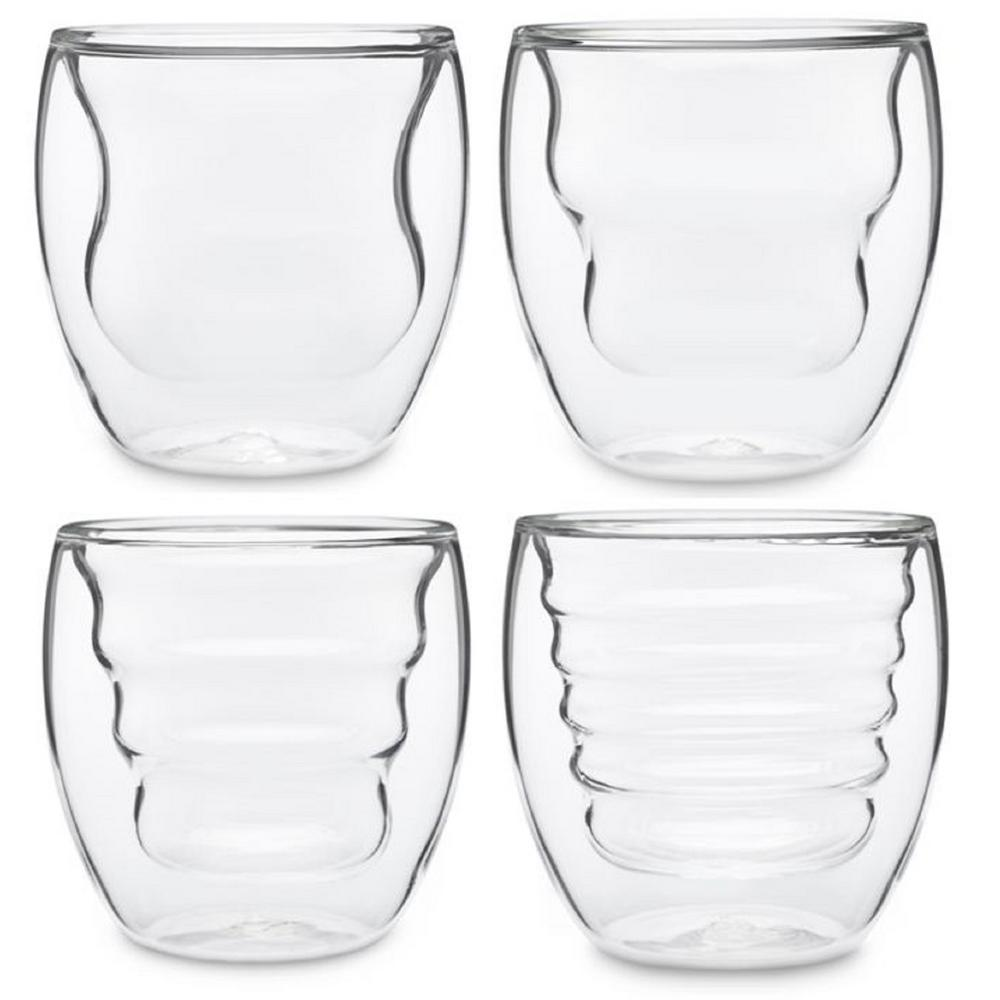 Curva Artisan Series 8 oz. Double Wall Beverage Glasses and Tumblers