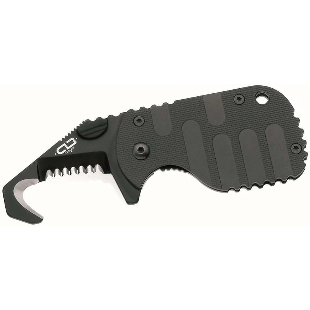 Rescom Knife with 1-7/8 in. Steel Blade in Black