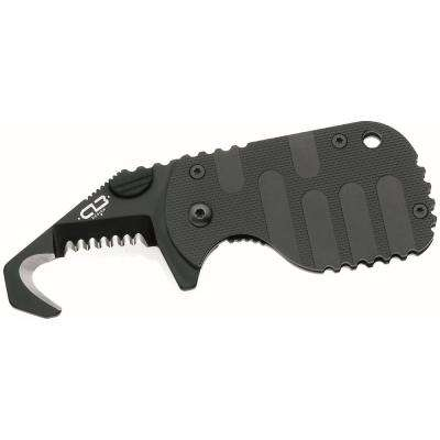 Rescom Knife with 1-7/8 in. Steel Blade in Black
