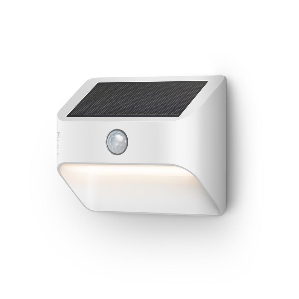 Smart Lighting Solar White Motion Activated Integrated LED Deck Step Light