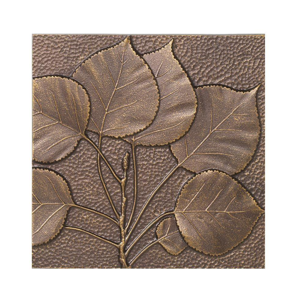 Whitehall Products 8 in. Aspen Leaf Aluminum Wall Decor-10244 ...