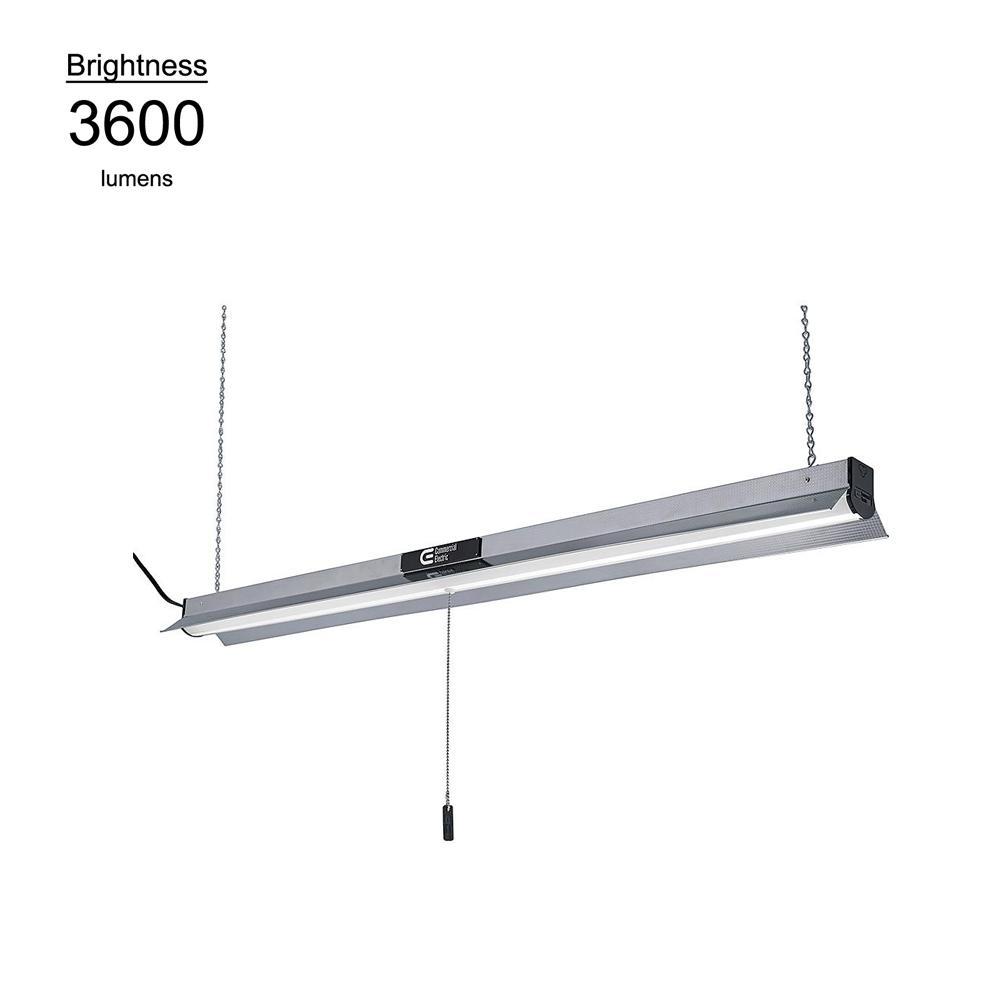 4 ft. Bright White Integrated LED Linkable Shop Light Pro Garage Light