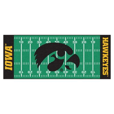 University of Iowa 3 ft. x 6 ft. Football Field Runner Rug