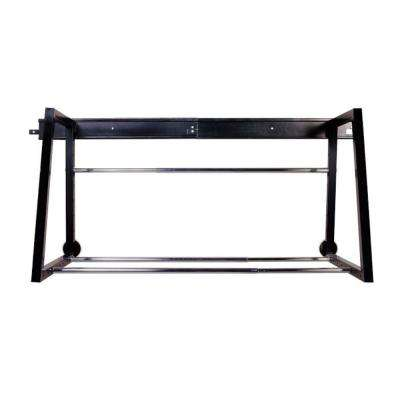 58 in. W Heavy Duty Adjustable Garage Wall Tire Rack in Black