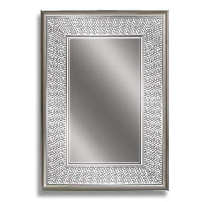 24 in. W x 34 in. H Silver Park Avenue Wall Mirror