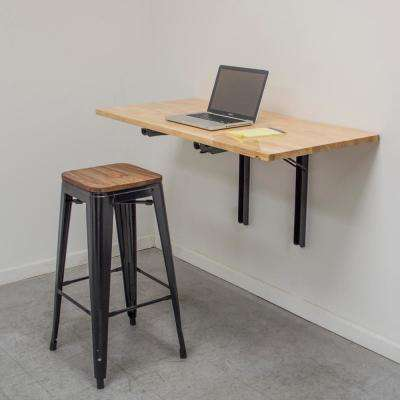 47 in. x 23 in. Wood Wall Mounted Folding Kitchen Utility Table