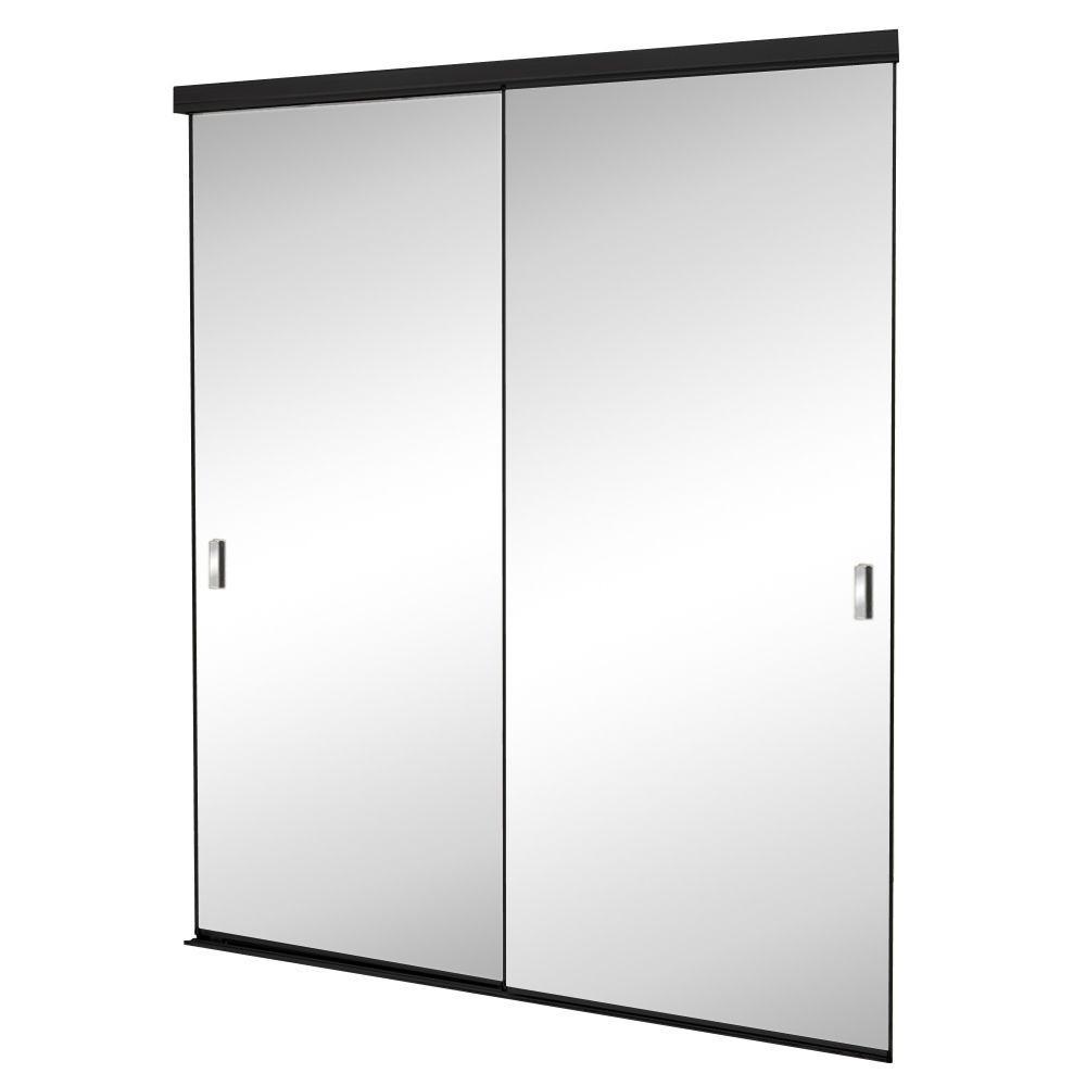 Trim Line Beveled Mirror Bronze Finish Aluminum Interior Sliding