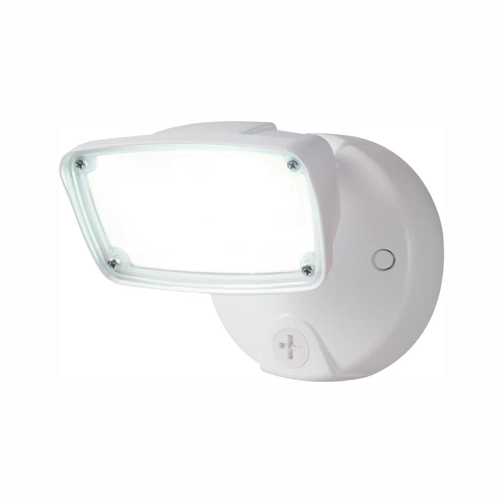 Halo 17 Watt White Outdoor Integrated Led Small Head Security Flood Light With Switch Control