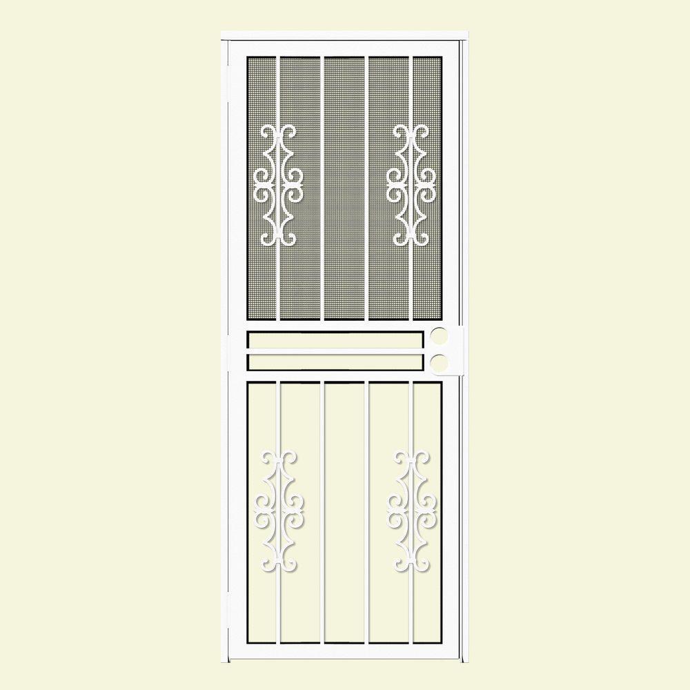 unique home designs security doors. Watchman Duo Recessed Mount Outswing Security Door White  Unique Home Designs Doors Exterior