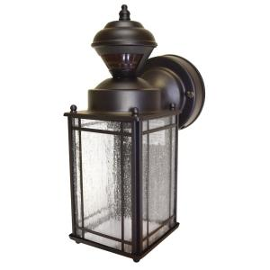 hampton bay exterior wall lantern with built in electrical outlet gfci. shaker cove mission 150 degree outdoor oiled rubbed bronze motion-sensing lantern · hampton bay exterior wall with built in electrical outlet gfci
