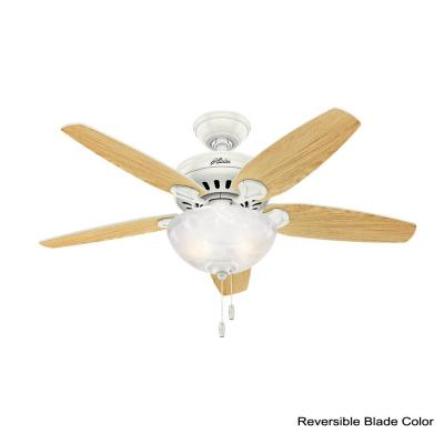 Cedar Park 44 in. Indoor Fresh White Ceiling Fan with Light Kit