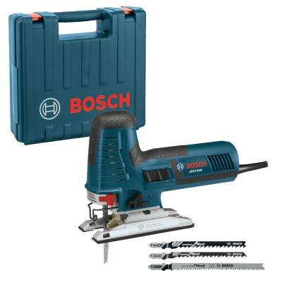 7.2 Amp Corded Variable Speed Barrel-Grip Jig Saw Kit with Assorted Blades and Carrying Case