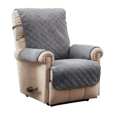 Prism Secure Fit Recliner Grey Furniture Cover Slipcover