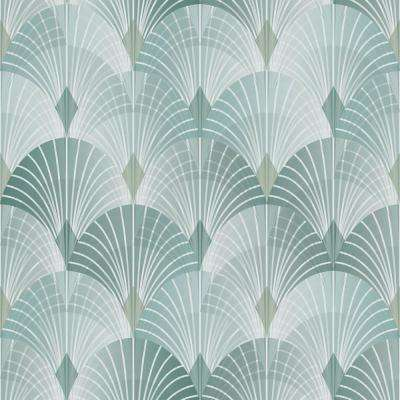 Pigalle Green Fan Strippable Wallpaper (Covers 57.8 sq. ft.)
