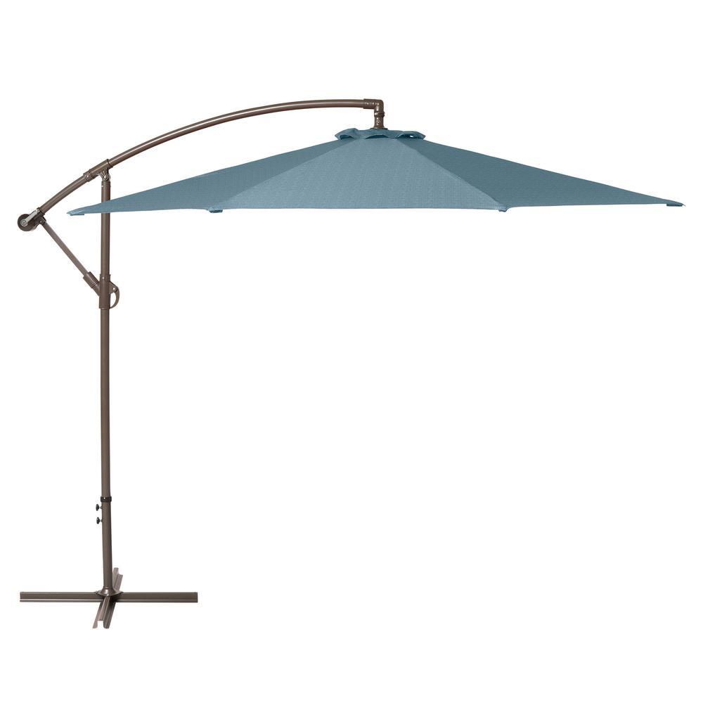 10 ft. Cantilever Patio Umbrella in Blue Shadow