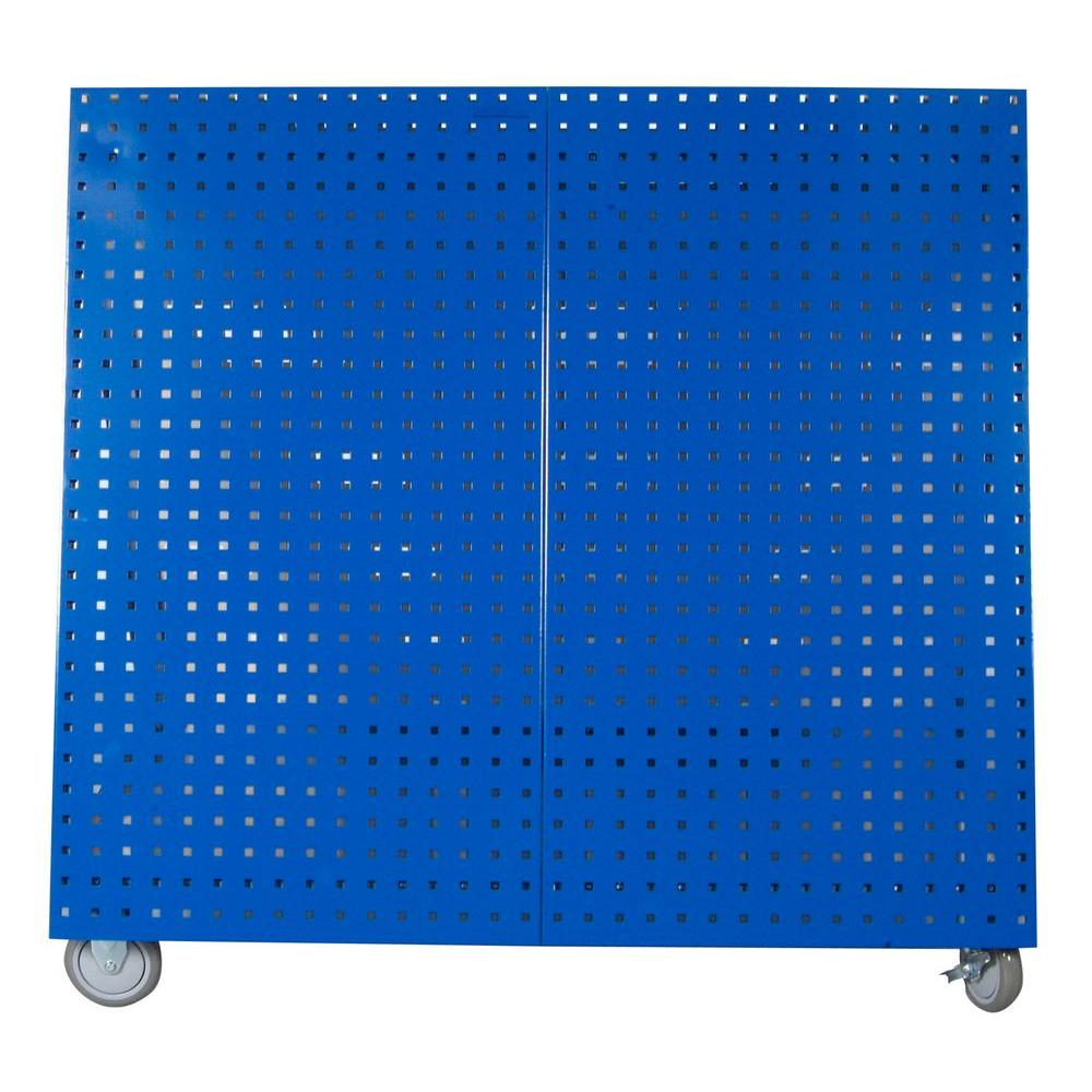 21.25 in. Mobile 0-Drawer Tool Utility Cart in Blue