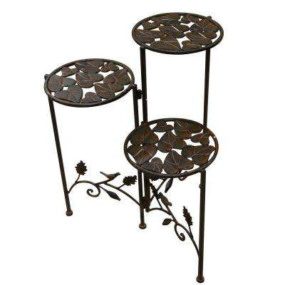 15 in. x 23 in. 3-Tier Metal Planter Stand