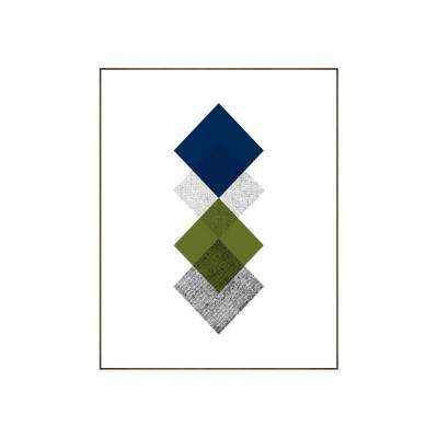 "39.25 in. x 31.25 in. ""Concentric II"" by Bobby Berk Printed Framed Wall Art"