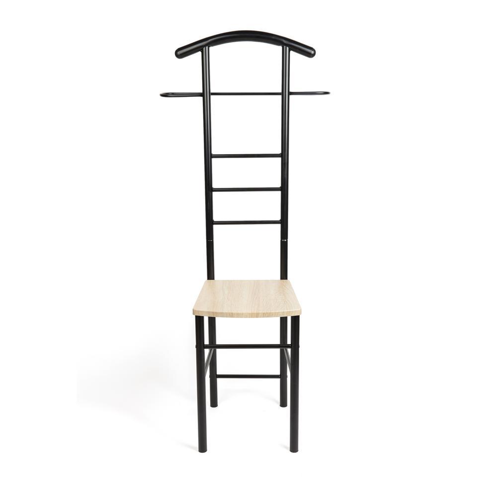Closet Companion Black Metal Valet Chair
