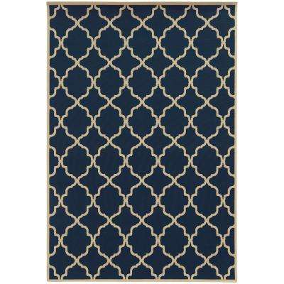 Newport Navy 7 ft. x 10 ft. Indoor/Outdoor Area Rug